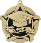 Superstar Graduate Medals 43017 with Neck Ribbons