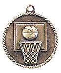 Basketball Medals HR710 with Neck Ribbons