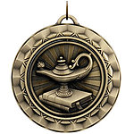 Spinning Lamp of Knowledge Medals SP311 with Neck Ribbons