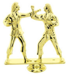 Double Female Martial Arts Trophy Figure RP80965