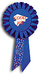 TR150 Rosette Ribbons Custom Printed