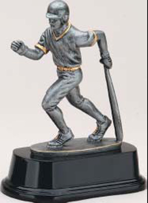 Resin Baseball Batter Trophy Statue RX3021K