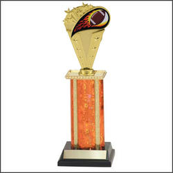S1 Football Trophies with single rectangular column