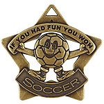 Fun Soccer Star Medals XS217 with Neck Ribbons