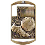 Dog Tag Soccer Medals DT213 with Neck Ribbons