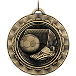 Spinning Soccer Medals SP314 with Neck Ribbons