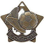 Soccer Star Medals XS206 with Neck Ribbons