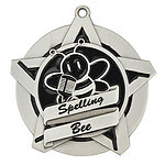 Superstar Spelling Bee Medals 43008 with Neck Ribbons