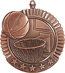 Huge Basketball Medals 36020 with Neck Ribbons