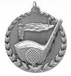 3D Golf Medals STM1209 with Neck Ribbons