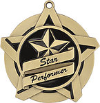 Superstar Star Performer Medals 43019 with Neck Ribbons
