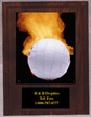 Solid Walnut Volleyball Plaque N Style