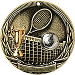 Tri-Colored Tennis Medals TR222 with Neck Ribbons