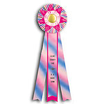 Rosette Ribbon Custom Printed TR144