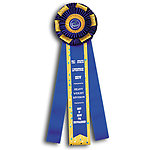 UKC or AKC Dog Rosette Ribbon Custom Printed TR155