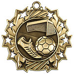 Ten Star Soccer Medals TS-411 with Neck Ribbons