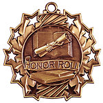 Ten Star Honor Roll Medals TS-505 with Neck Ribbons