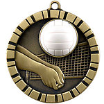 IM224 Colorful 3D Volleyball Medals with Neck Ribbons
