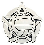 Superstar Volleyball Medals 43030 with Neck Ribbons