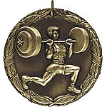 XR266 Weightlifter Medals with Six Pricing Options