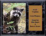 Coon Hunt Plaques H Series Cherry Finish