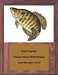 Crappie Plaques V Series Cherry Finish