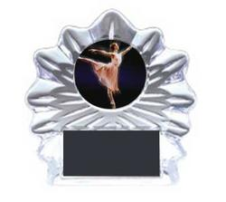 Acrylic Flame Ice Dance Award