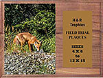 Fox & Coyote Field Trial Plaques H Series Genuine Walnut Finish