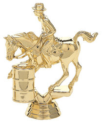 Male Barrel Racer Trophy Figure 718