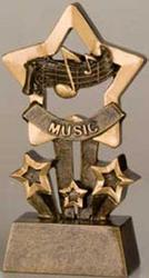 Resin Star Music Trophy