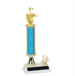 Round Single Column Band Trophy, Music Trophy, R2R
