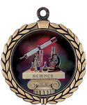 Large Science Insert Medals 905-7079 with Neck Ribbons