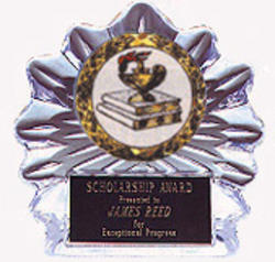 Acrylic Flame Ice School Awards with 2 size options