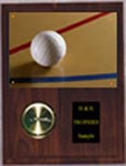 Solid Walnut Image Volleyball Clock Plaque V Style